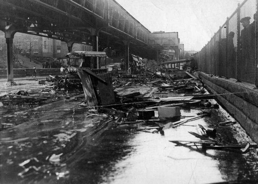 Vehicles after the Boston Molasses Flood