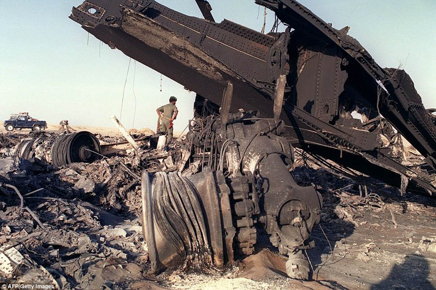 Flight 772 Charred Wreckage