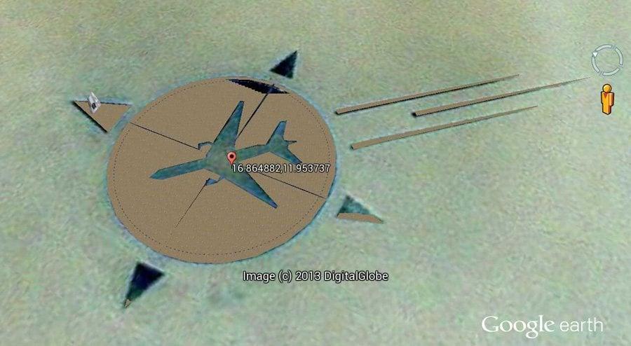 Google Earth Picture Of UTA Flight 772 Memorial
