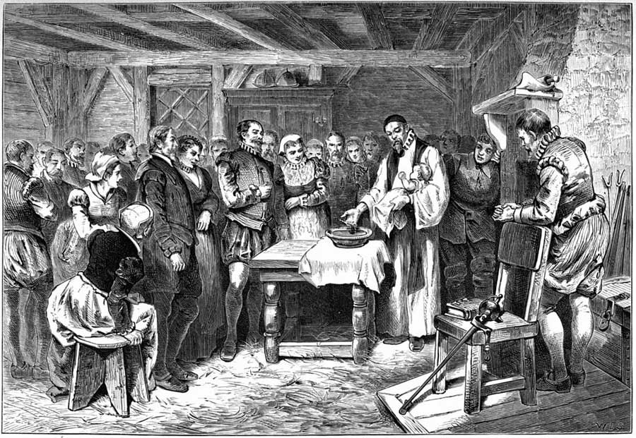 Roanoke Colony Virginia Dare Baptism