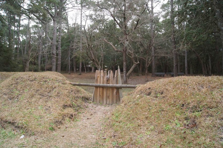 Roanoke Colony Reconstructed Fort