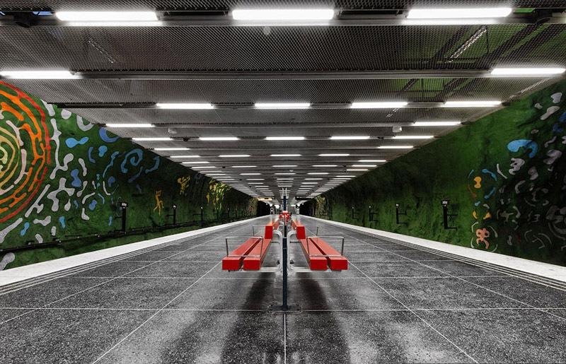 Stockholm Metro Bench Corridor