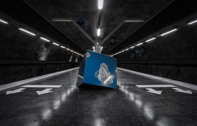 Stockholm Metro Cloud Cube