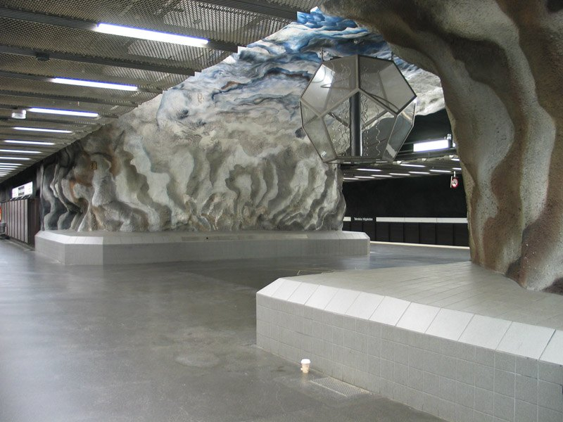 Stockholm Metro Glacier Arch