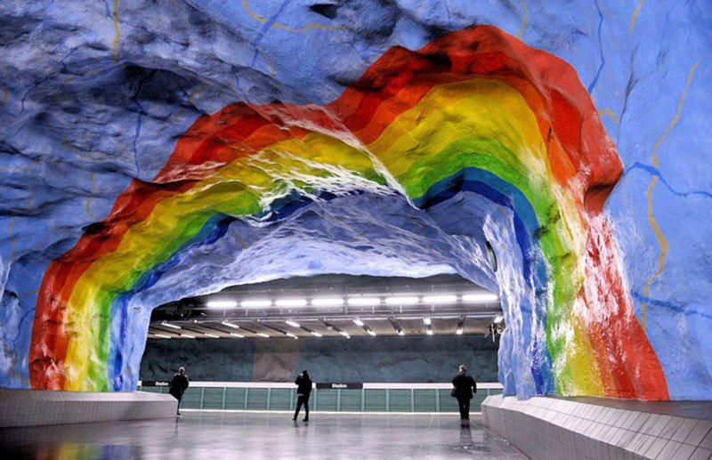 Stockholm Metro Rainbow Archway
