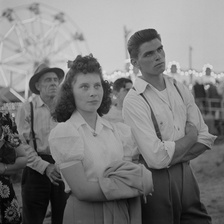 At The Fair Bw