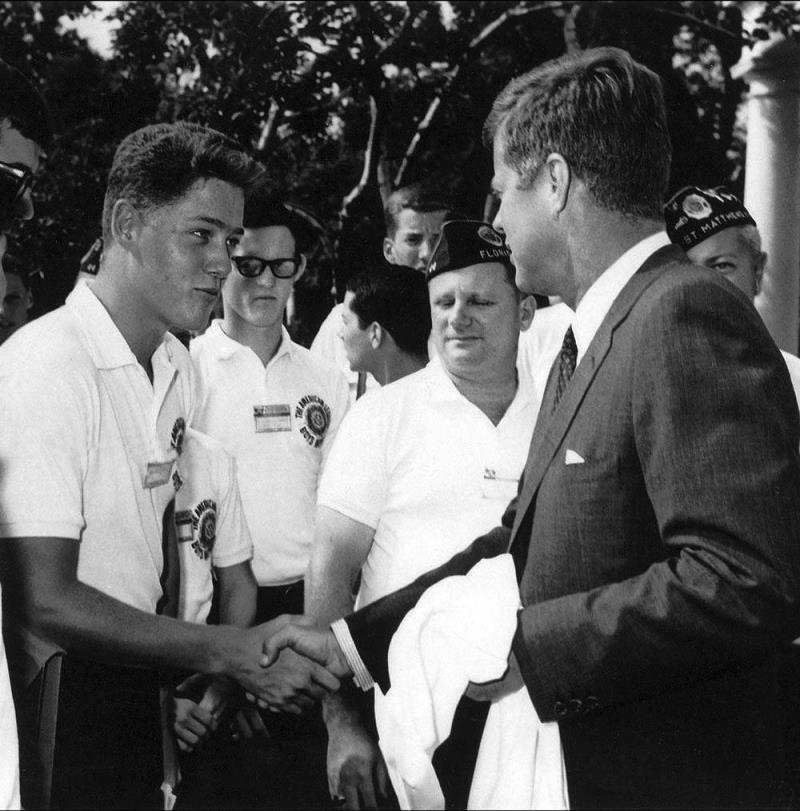 Bill Clinton Meets JFK