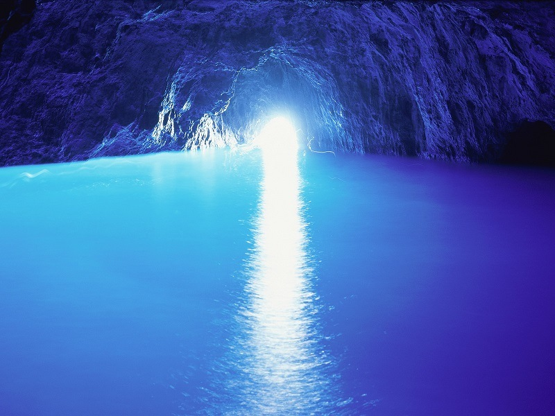 Blue Grotto Cave Opening