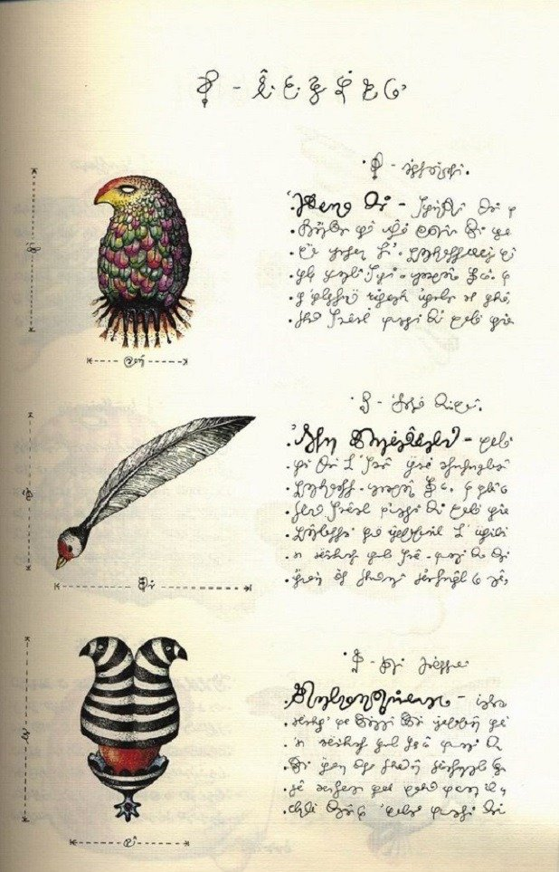 Codex Seraphinianus Birds
