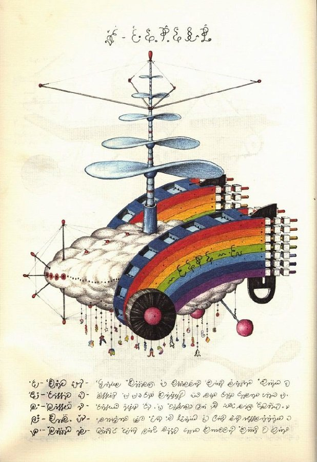 Codex Seraphinianus Rainbow Helicopter