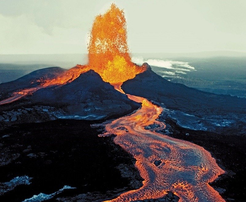 Active Volcano Eruption