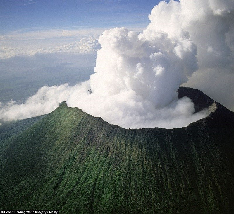 Volcano Aerial View