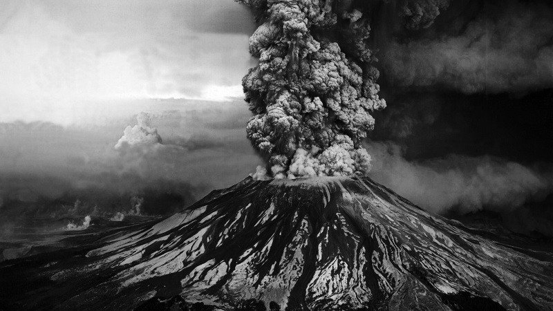 Eruptions Black And White