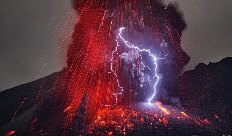 Volcano Lightning Eruption