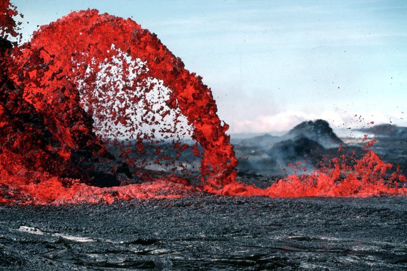 Volcano Eruptions Red Strreak