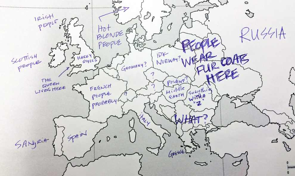 Europe Map Fur Coats