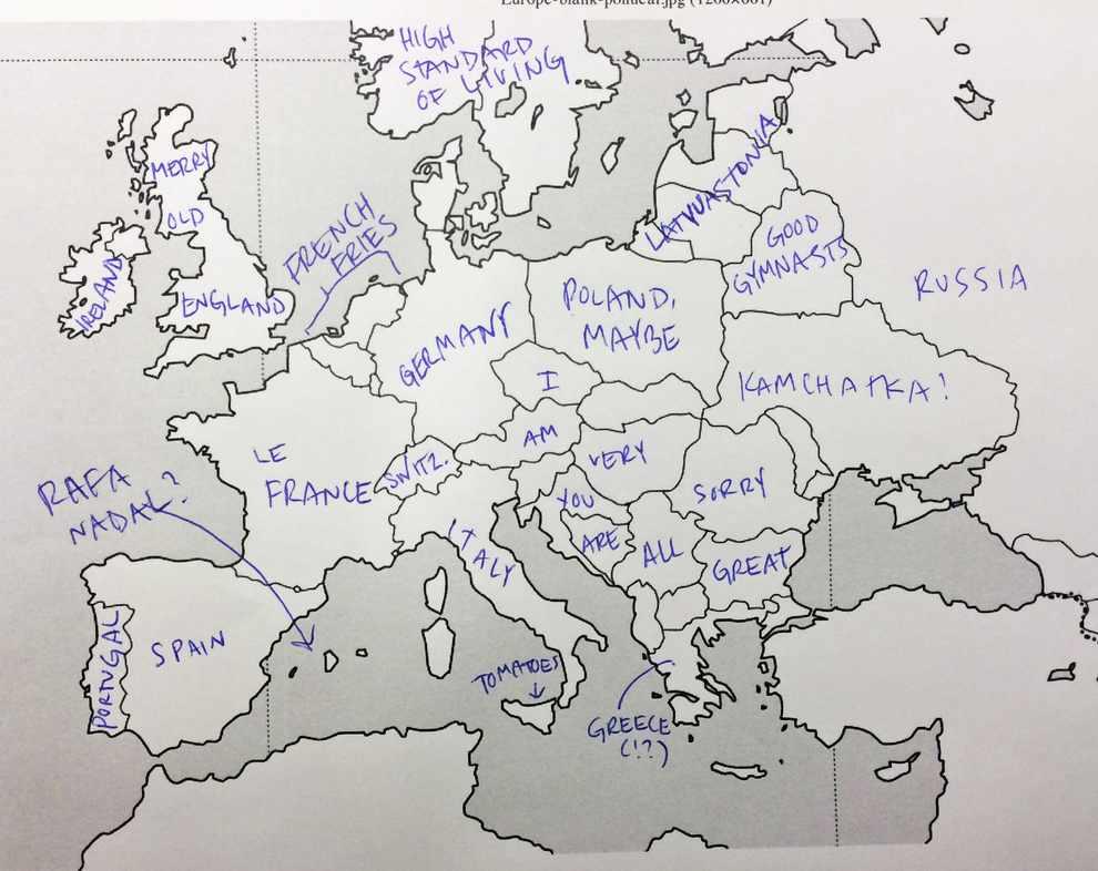 Europe Map Kamchatka