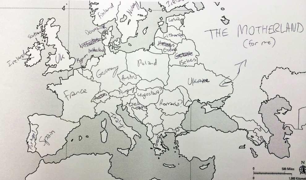 Europe Map Motherland