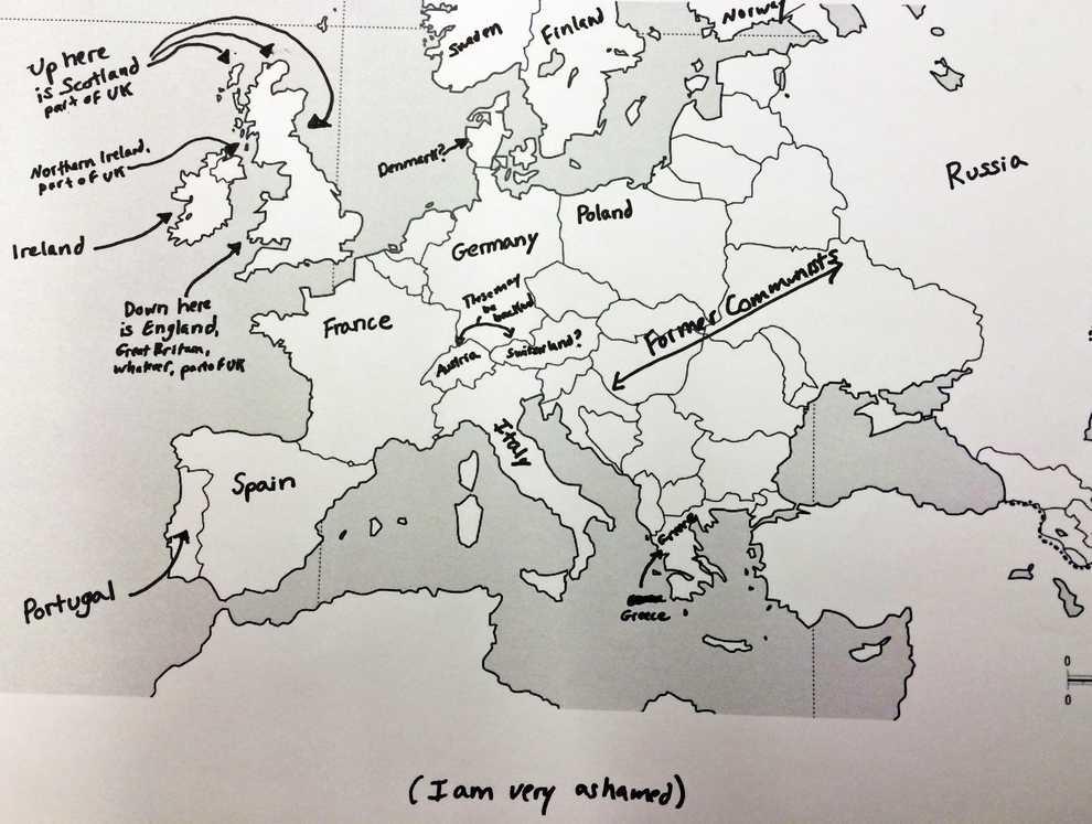 Europe Map Shame