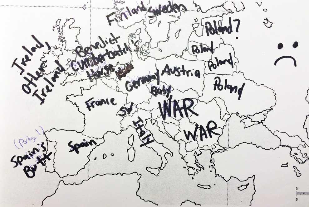 Europe Map War