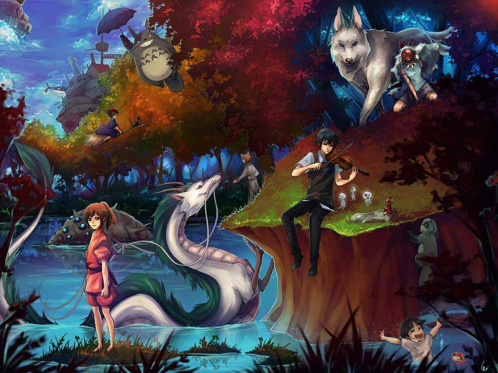 Miyazaki Forest Art