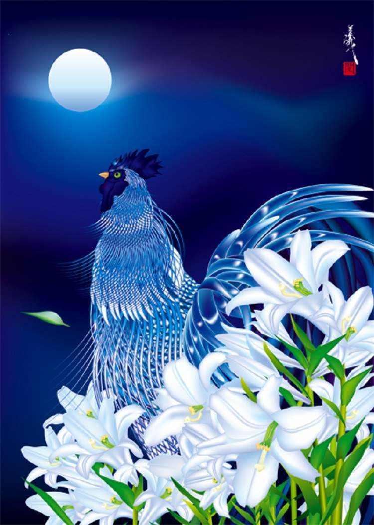 Masahiko Saga Moon Illustration