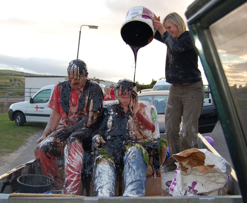 Interesting Wedding Traditions Blackening Couple