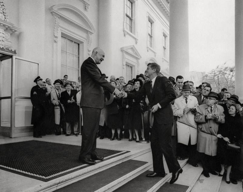 Eisenhower Welcomes JFK To The White House