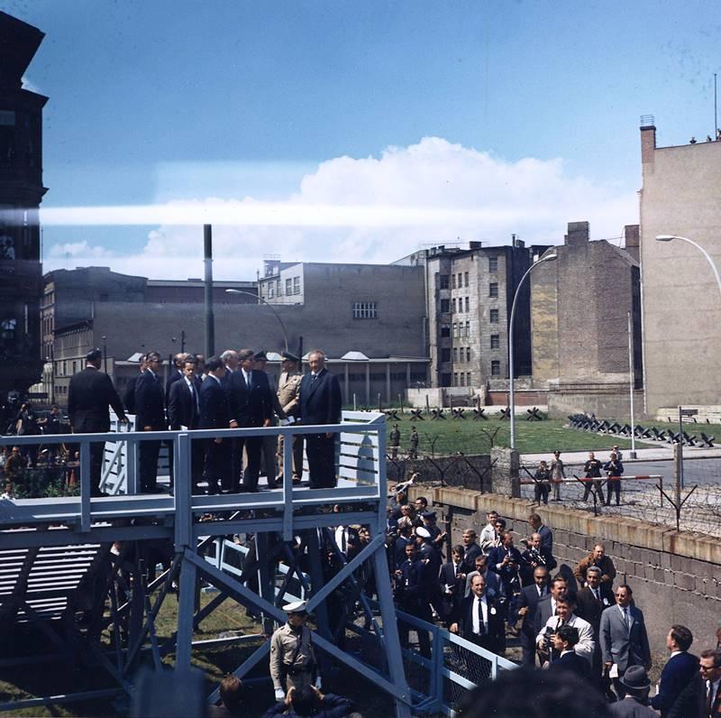 John Kennedy Tours The Berlin Wall