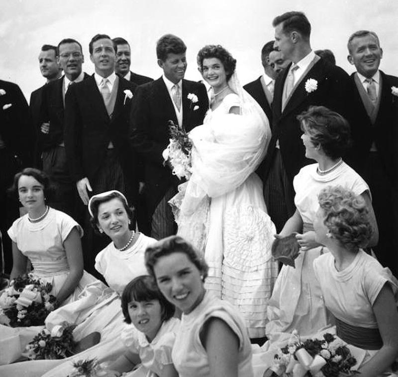 John Kennedy Jacqueline Onassis Wedding Photograph