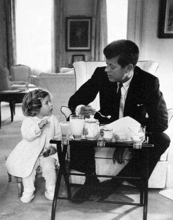 John Kennedy Photos Breakfast With Caroline