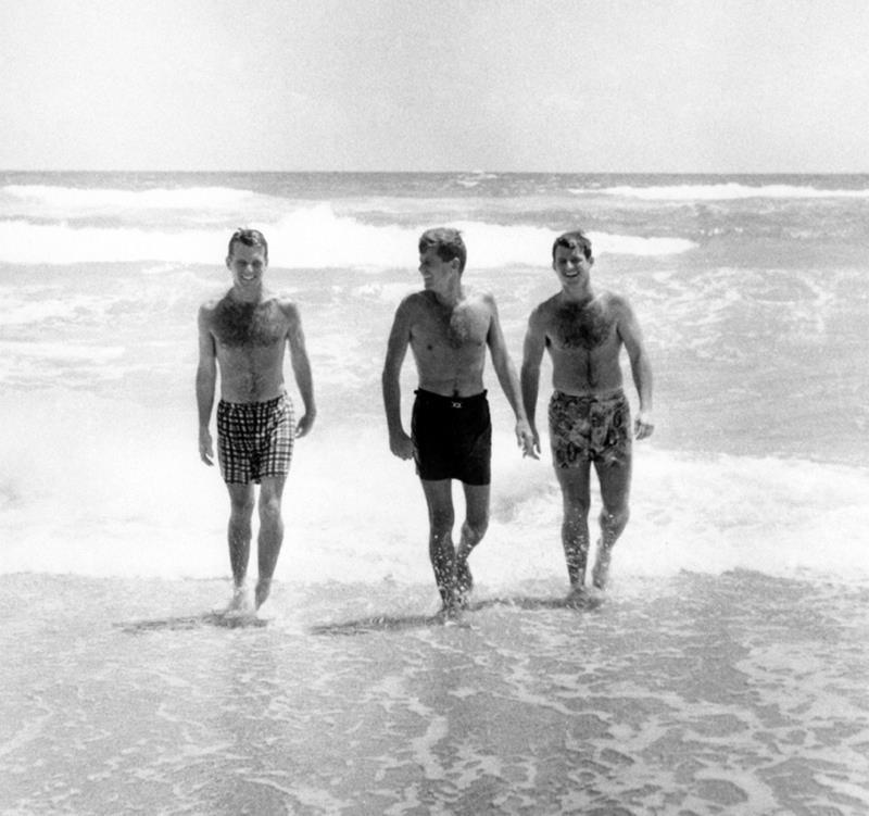 John Kennedy Photos Brothers At The Beach
