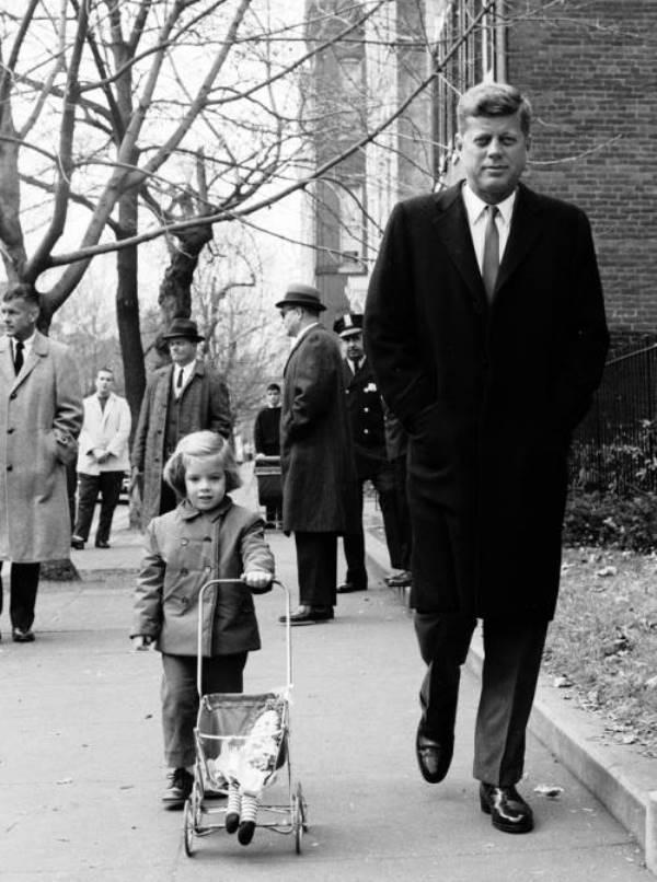 John Kennedy Accompanies Caroline