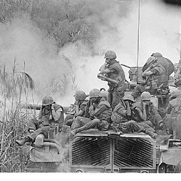 Marines On Tank