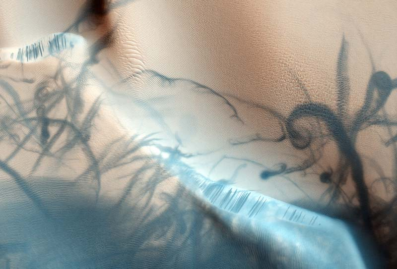 Mars Half Black Swirls