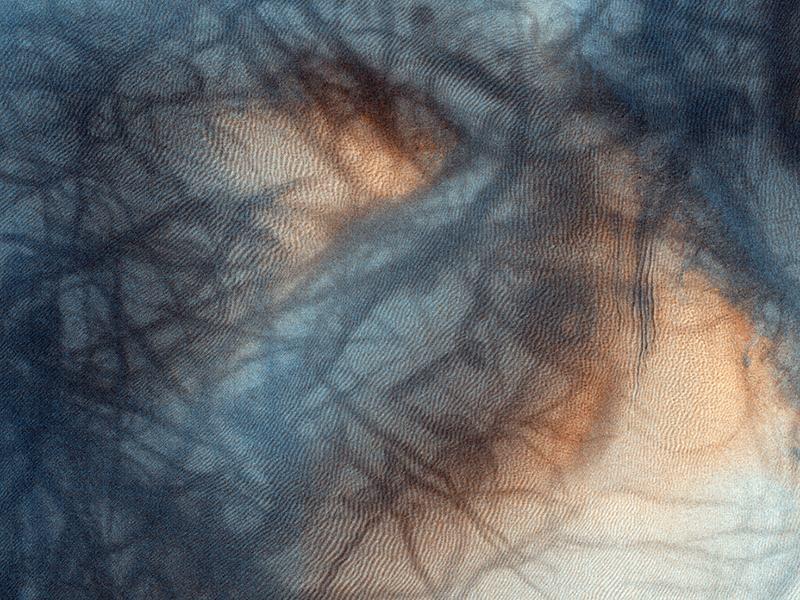 Mars Landscape Mars Black Swirls