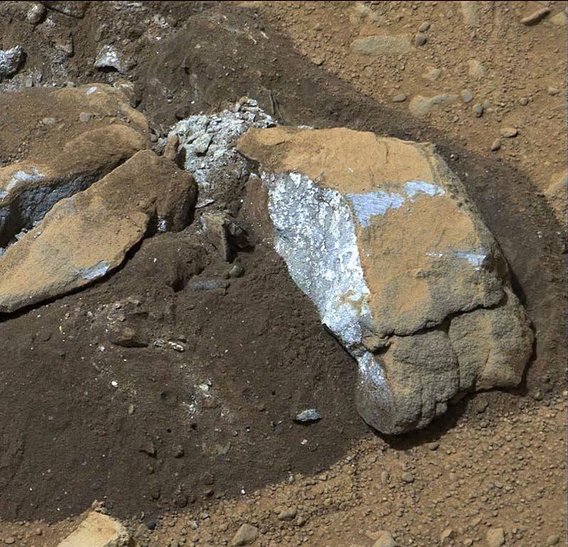 Mars Landscape Blue Rock