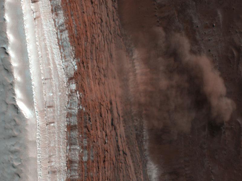 Mars Landscape Avalanche