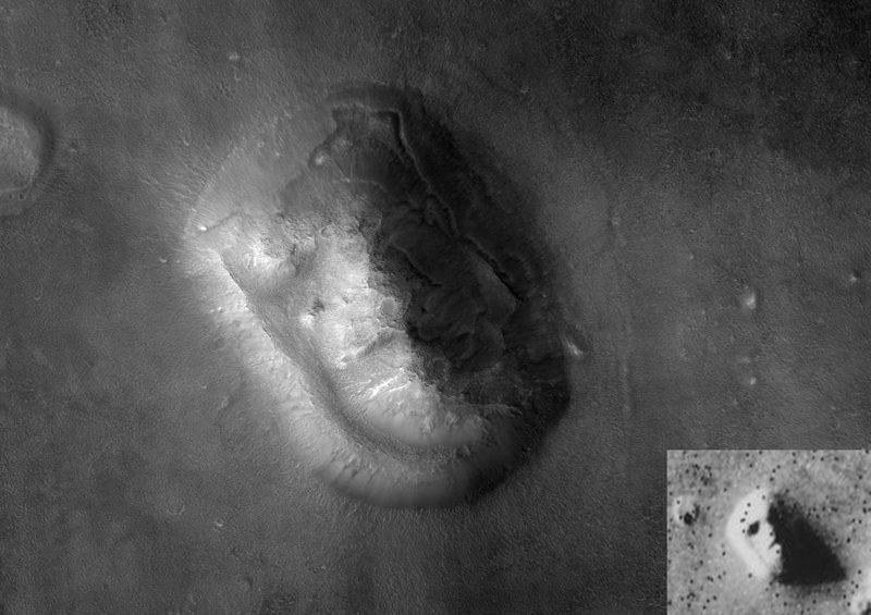 Mars Landscape Face After