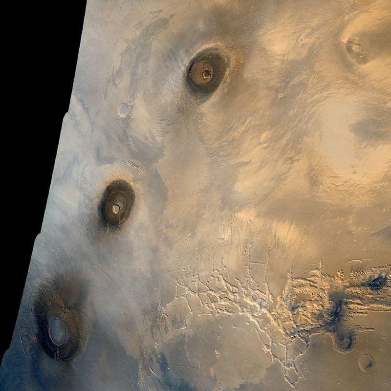 Mars Landscape Tharsis Montes