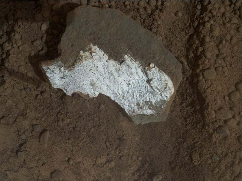 Mars Landscape White Rock