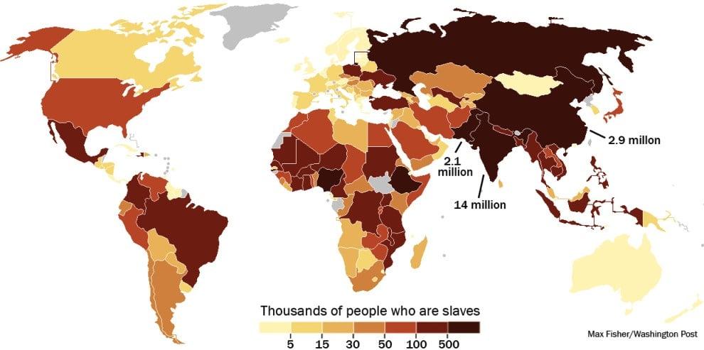 Modern Day Slavery Map
