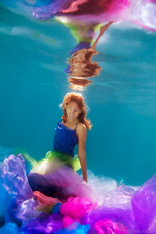 Colorful Girl Underwater