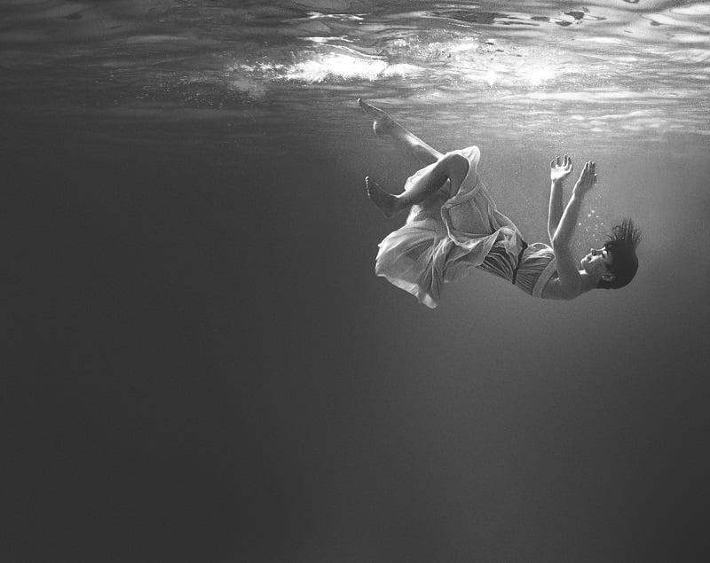 Girl Falling In The Water