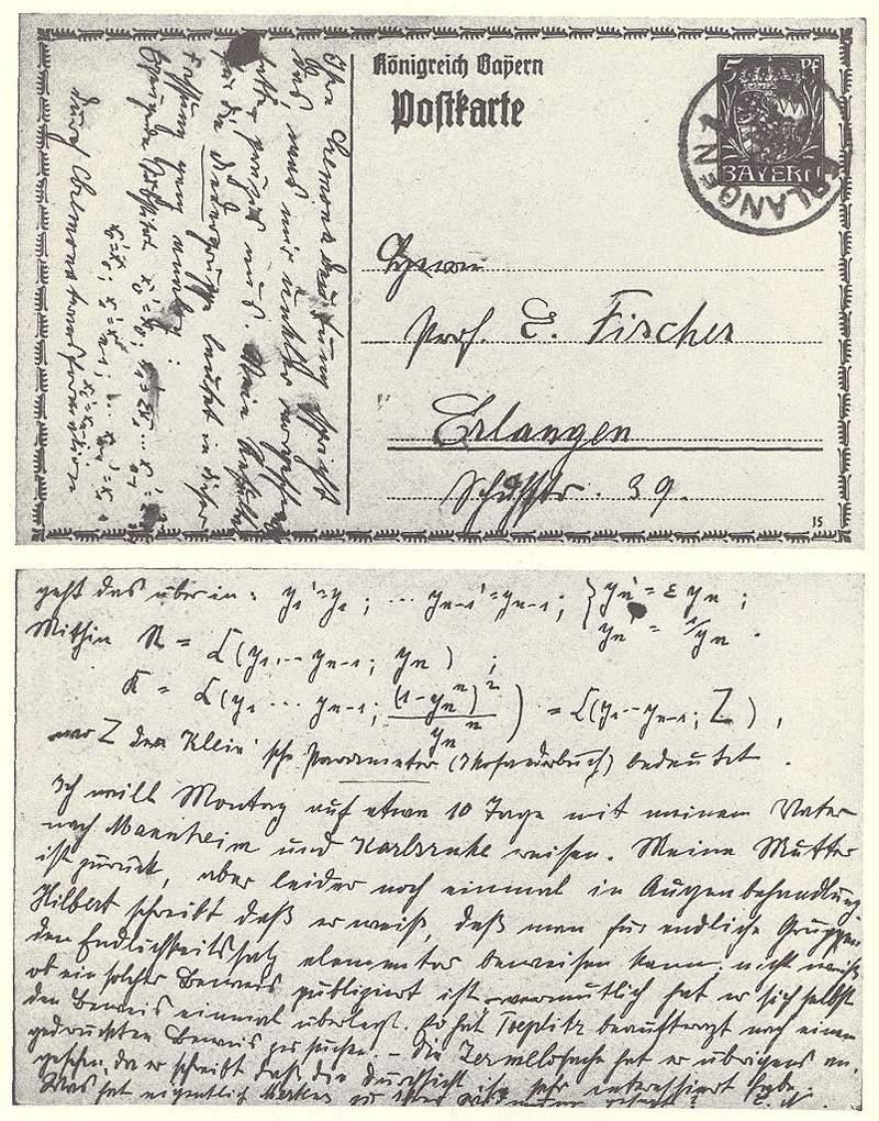 Women Scientists Postcard Math