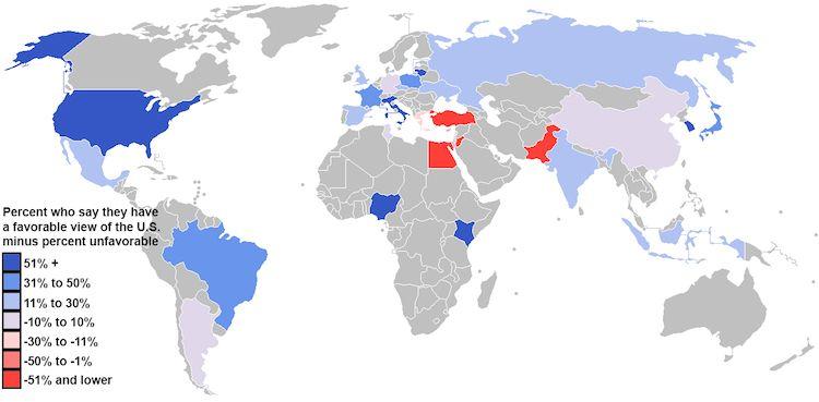 25 Maps Attitude to US