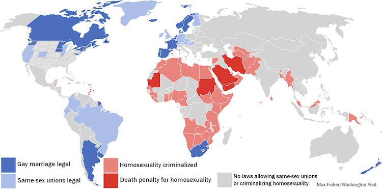 25 Maps Homosexuality