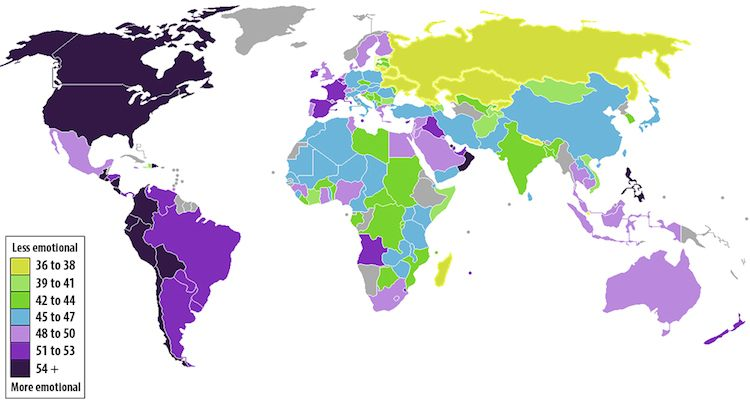 25 Maps Emotional Countries