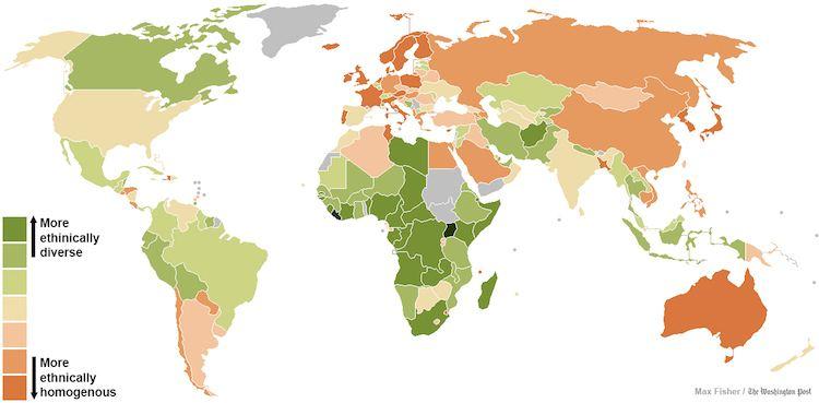 25 Maps Ethnic Diversity