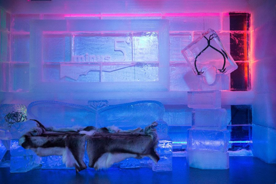 Ice Bars New York Fur Couch